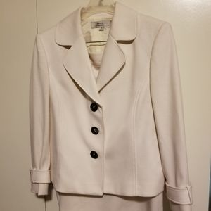 Kasper career or formal white skirt suit